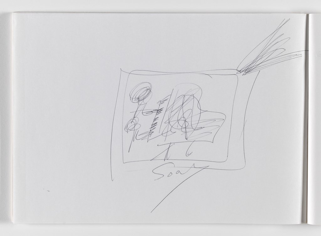 Nam June Paik, Untitled, from Untitled Notebook, 1980 page 11