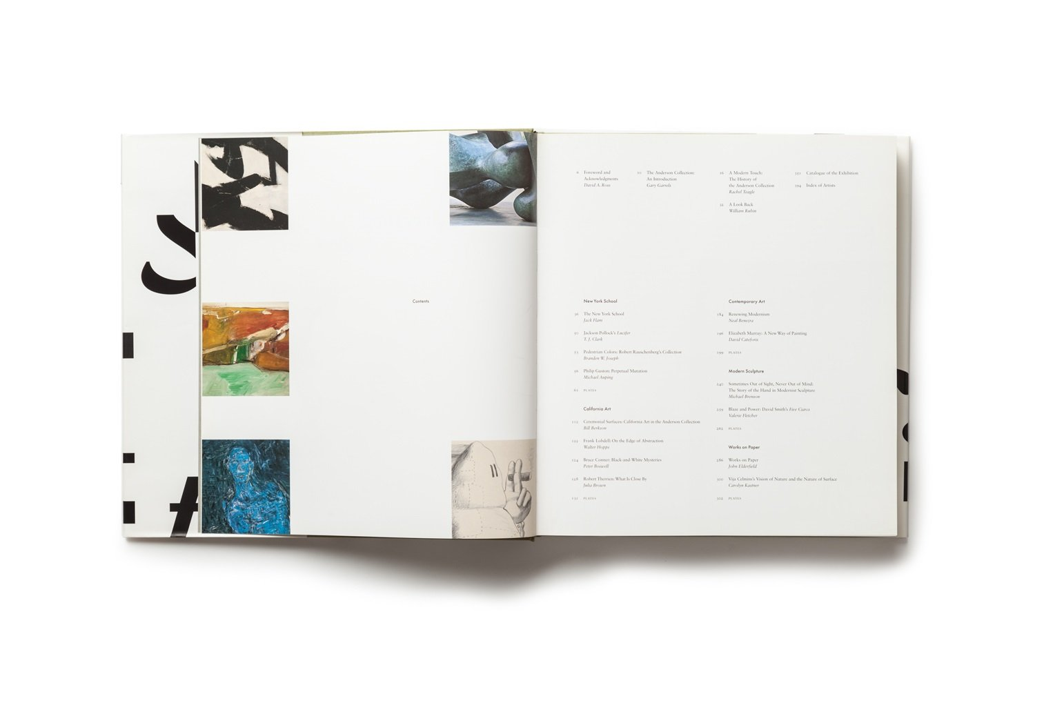 Celebrating Modern Art: The Anderson Collection publication table of contents