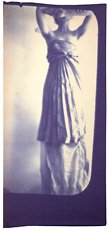 Francesca Woodman, image of woman in dress with arms up