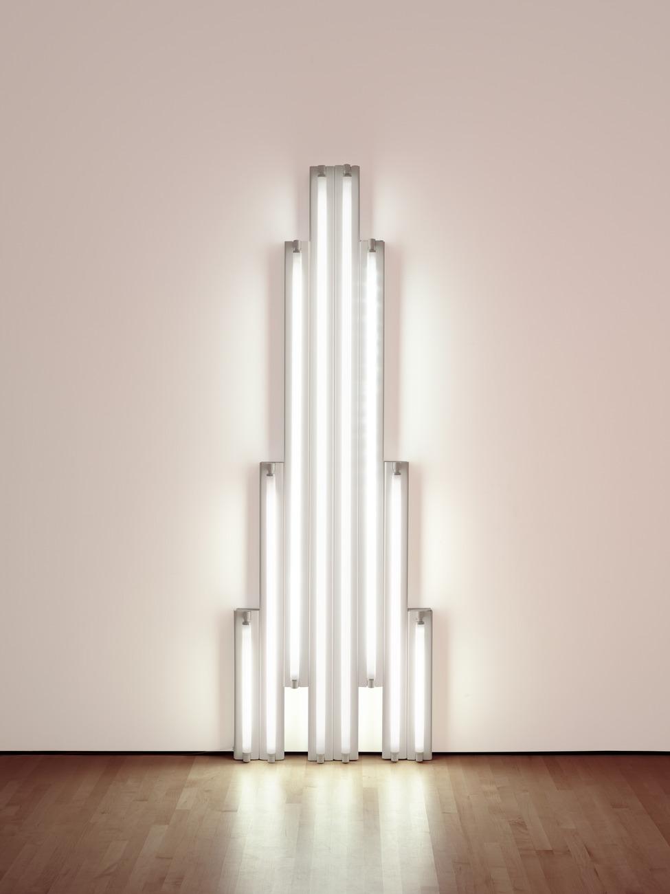 Artwork image, Dan Flavin, monument for V. Tatlin