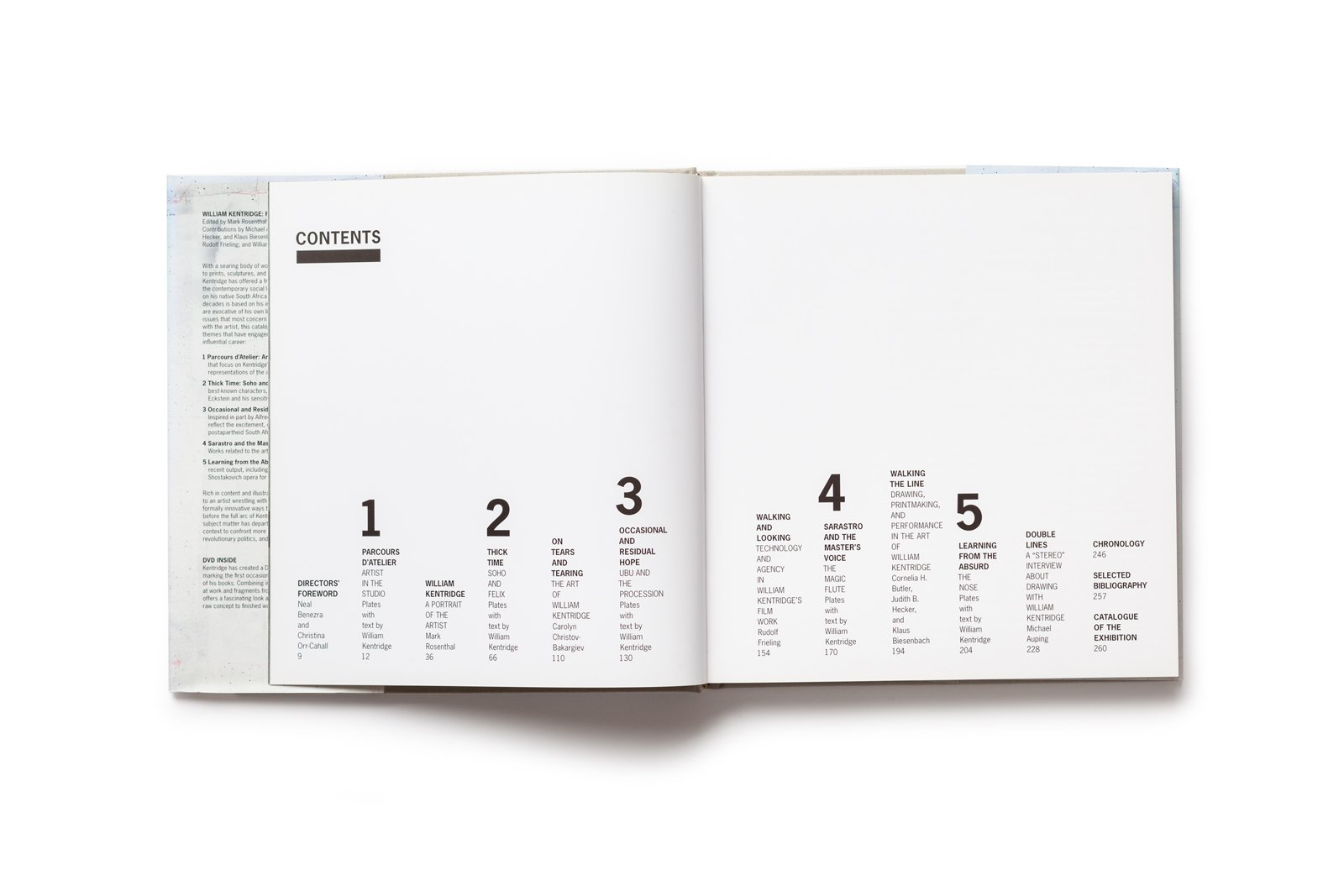 William Kentridge publication table of contents