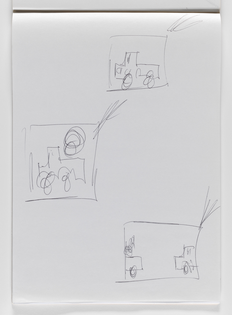 Nam June Paik, Untitled, from Untitled Notebook, 1980 page 34