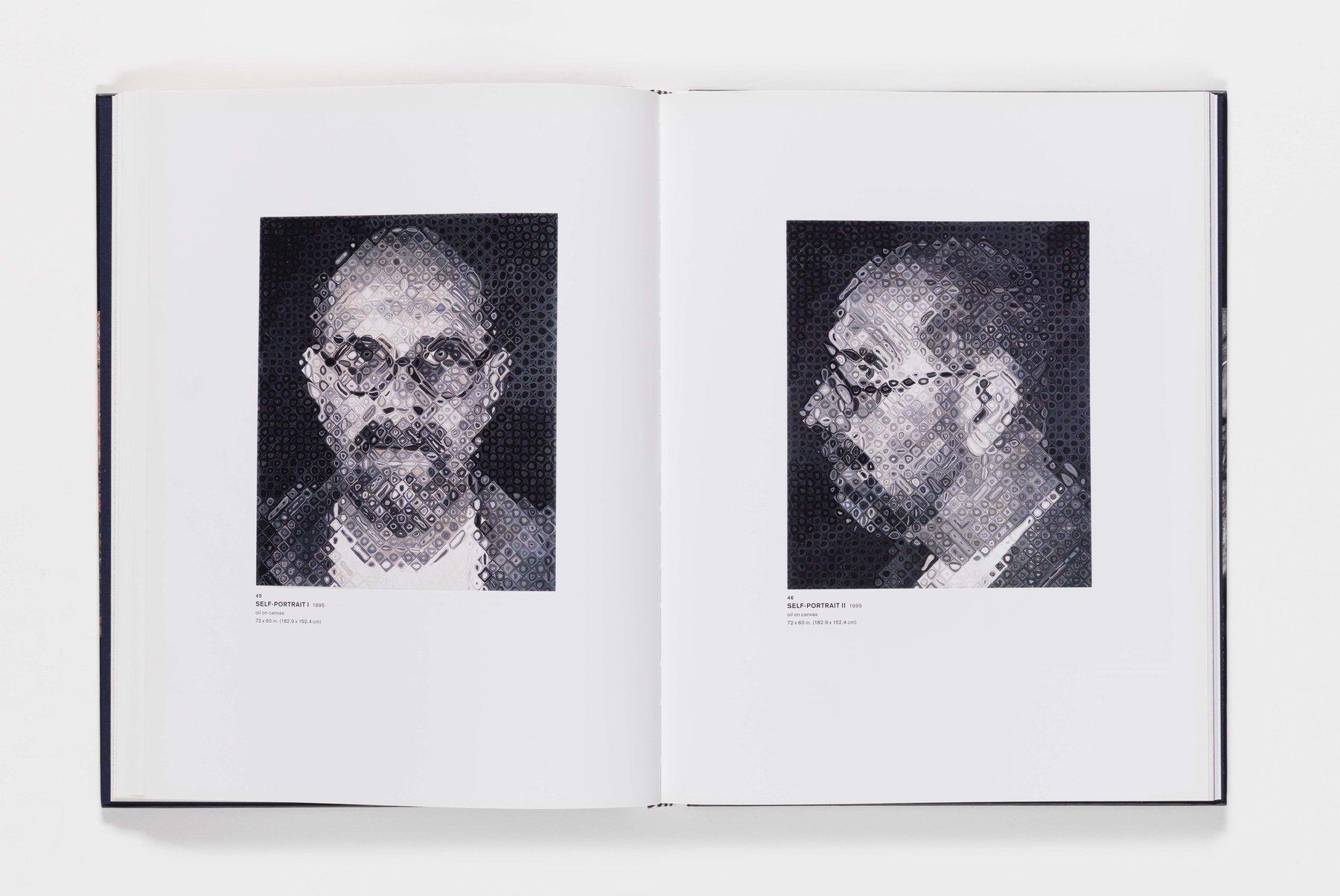 Chuck Close Self-Portraits publication pages 45_46
