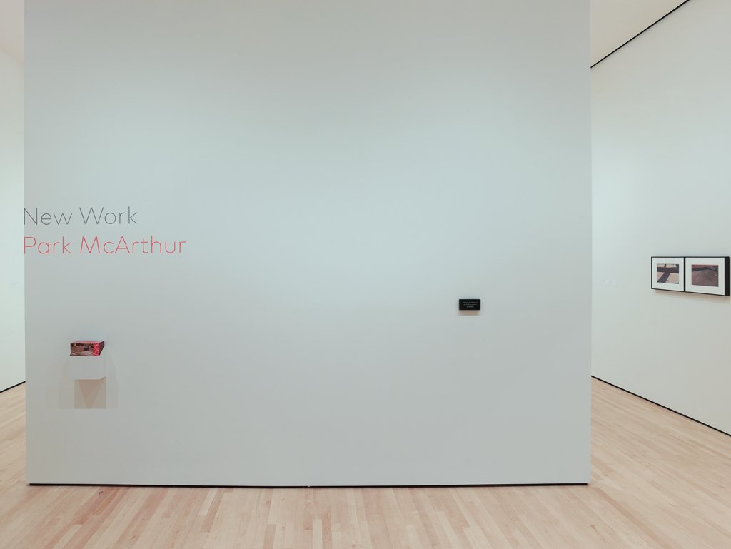 New Work: Park McArthur exhibition title wall