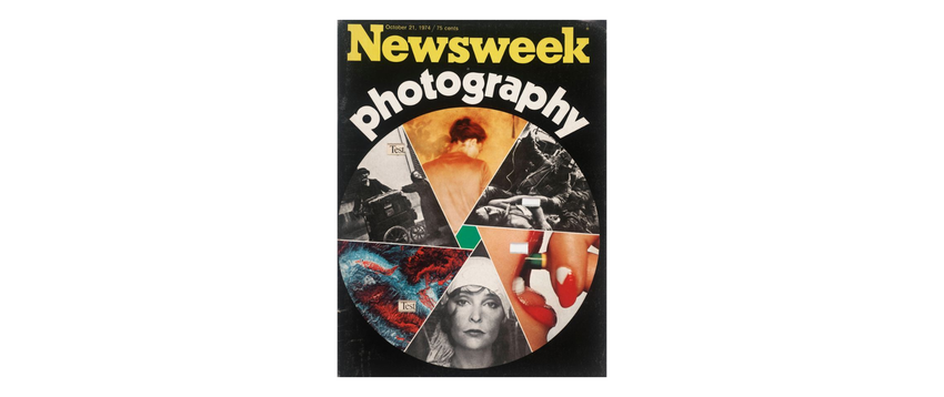 A color Newsweek magazine cover, Heinecken