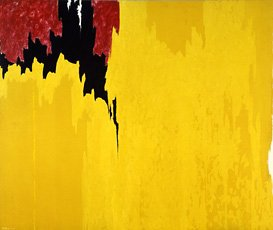 Clyfford Still, yellow and red painting