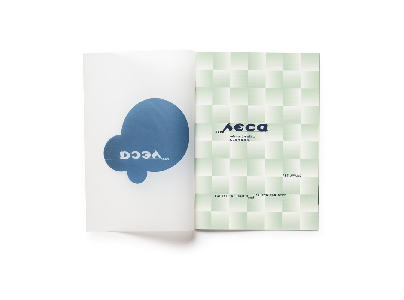 2000 SECA Art Award publication cover with outside flap open
