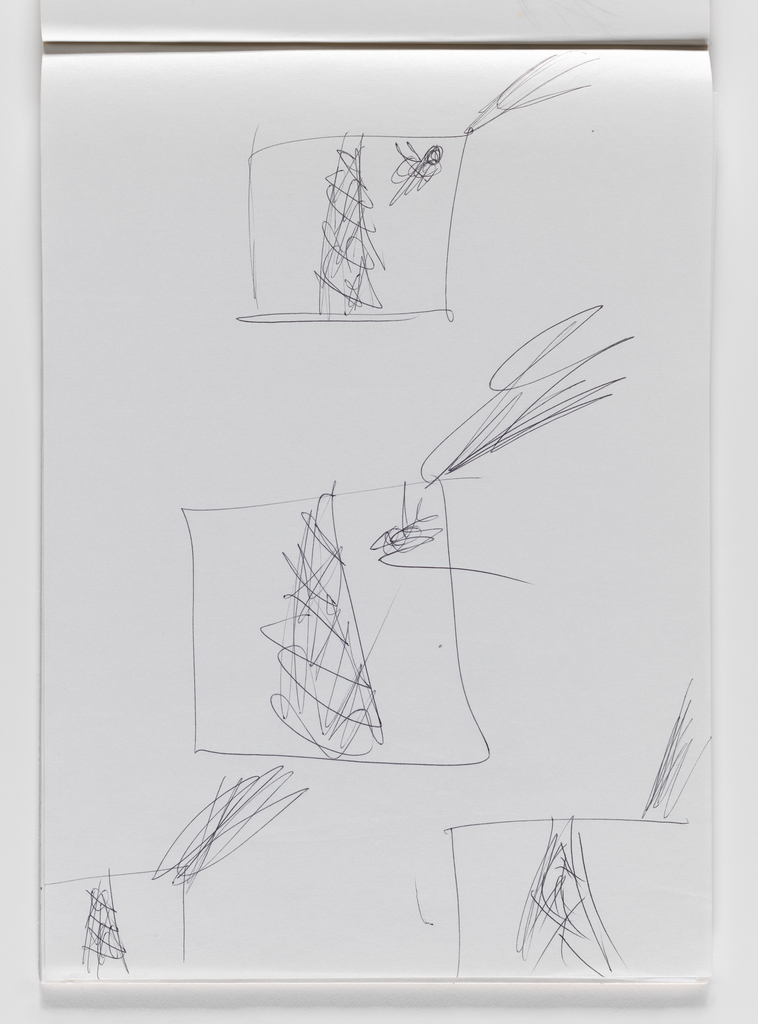 Nam June Paik, Untitled, from Untitled Notebook, 1980 page 23