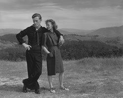 Weston, man and woman on hillside