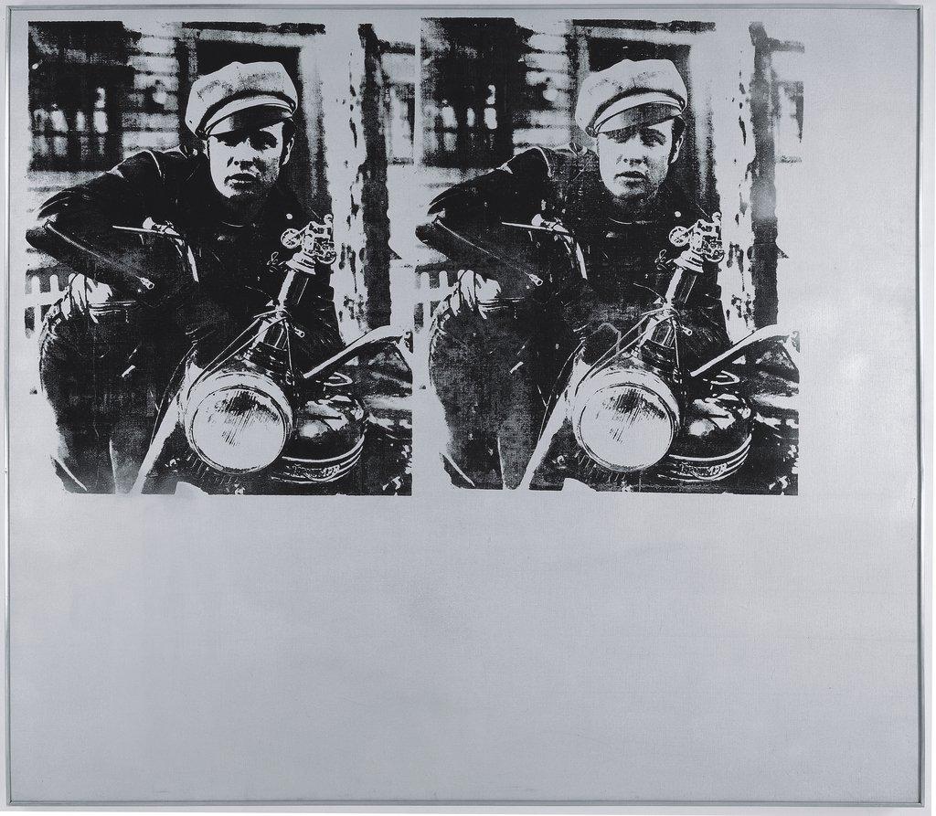 Artwork image, Andy Warhol, Silver Marlon