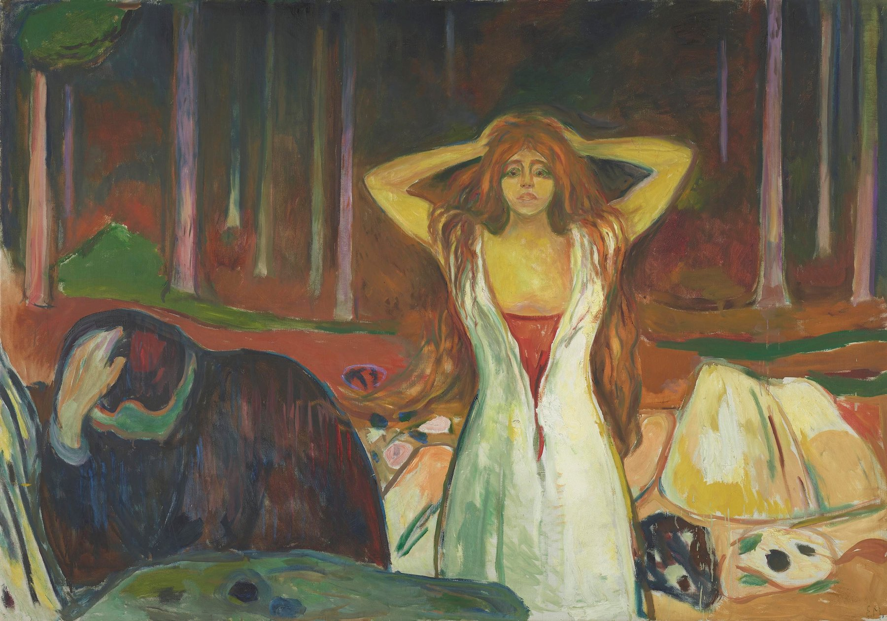 Artwork image, Munch, Ashes