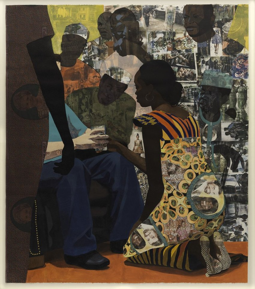 Artwork image, ​Njideka Akunyili Crosby, Wedding Portrait