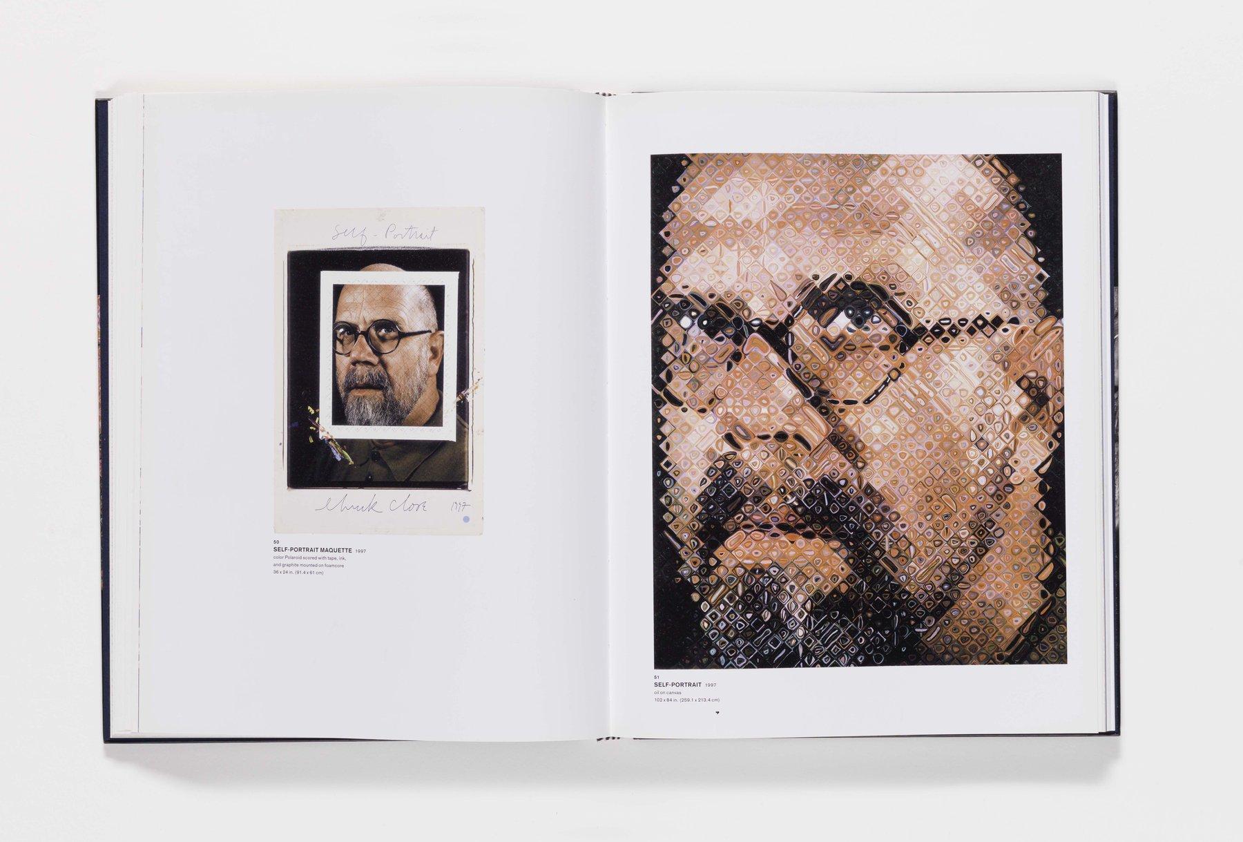 Chuck Close Self-Portraits publication pages 50_51