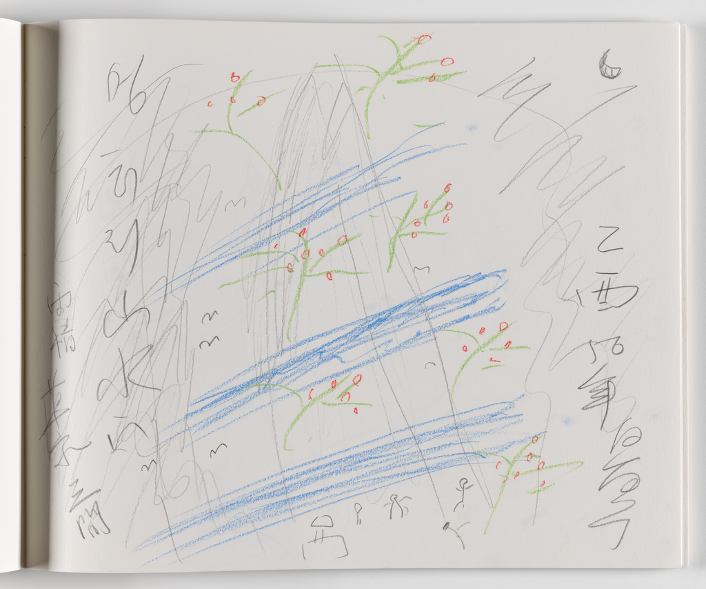 Nam June Paik, A Drawing Notebook, 1996 page 12