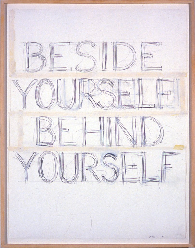 Artwork image, Bruce Nauman, Beside/Yourself/Behind/Yourself