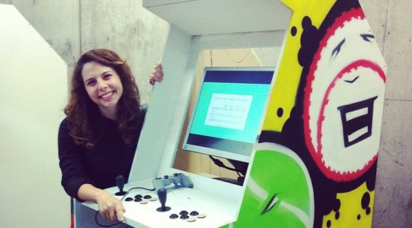 ​Sarah Brin with Sports!, an arcade cabinet