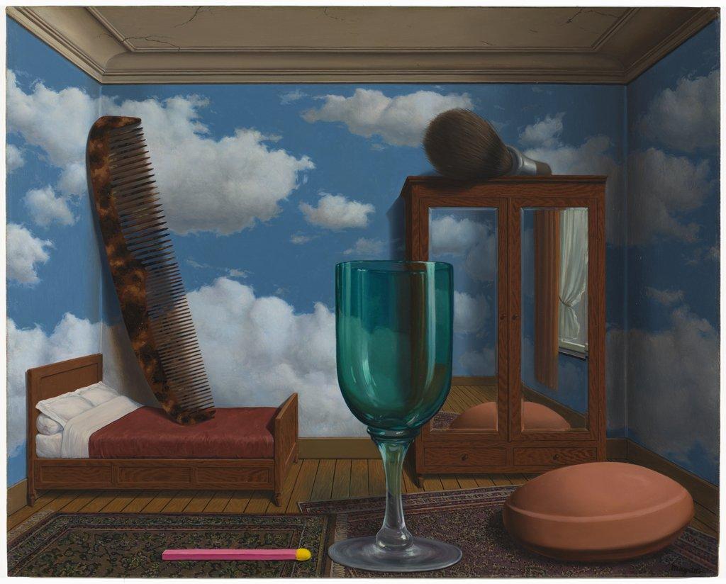 Artwork image, Rene Magritte Les valeurs personnelles (Personal Values)