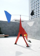 Alexander Calder sculpture on SFMOMA rooftop garden