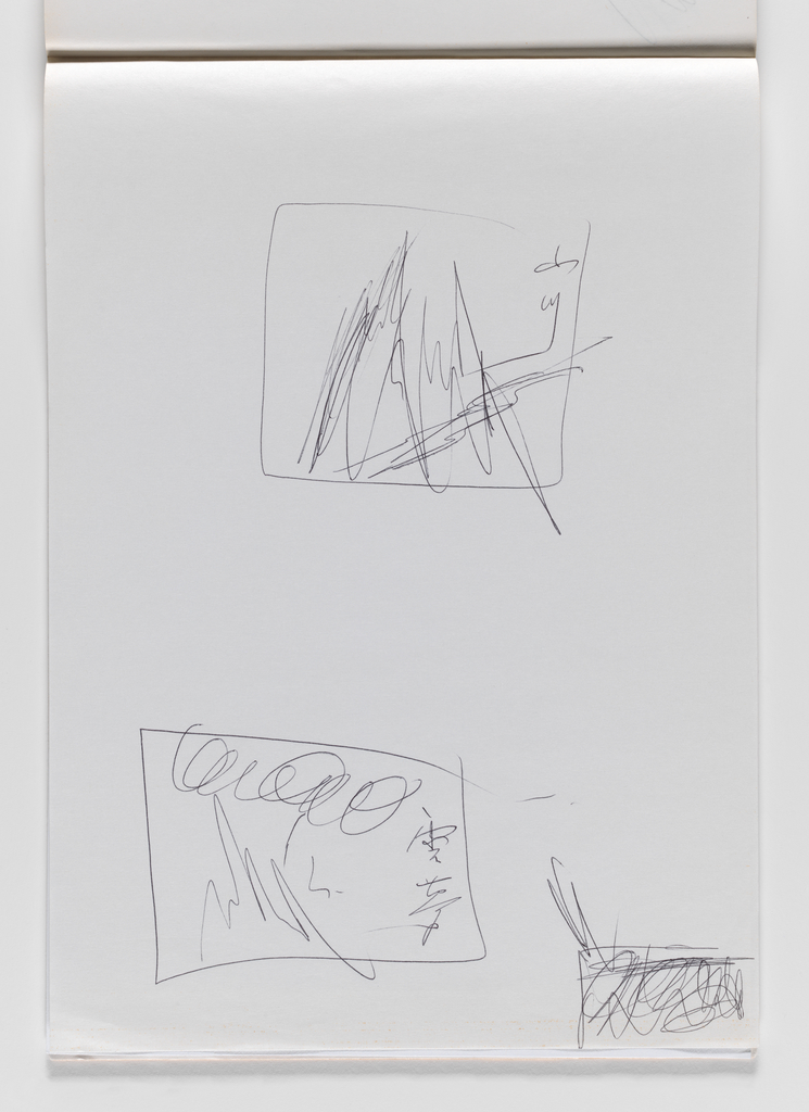 Nam June Paik, Untitled, from Untitled Notebook, 1980 page 46