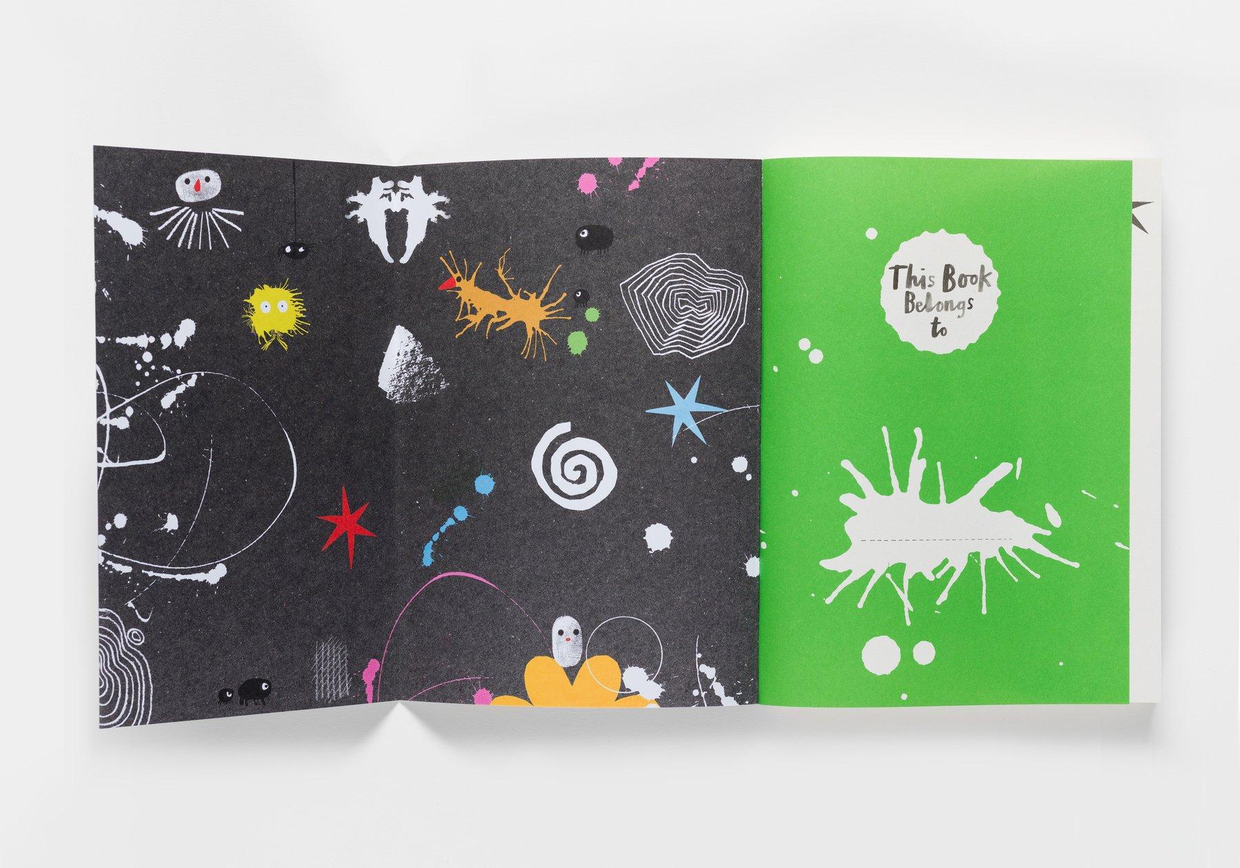 Play Artfully publication inside flap open
