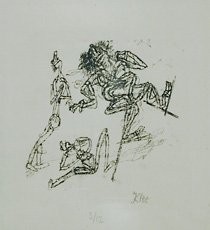 Klee, drawing on paper
