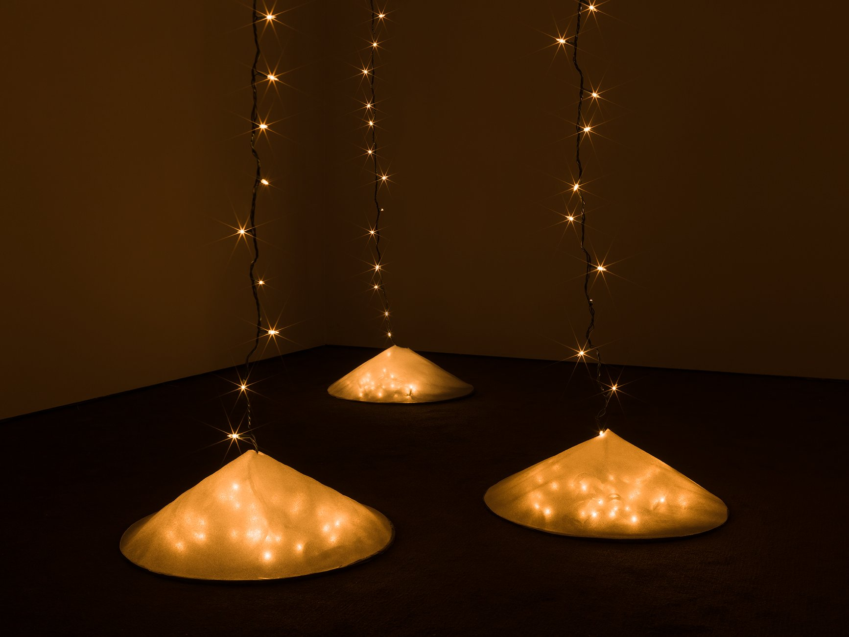 A dark room with Christmas lights, Eno, Soundtracks