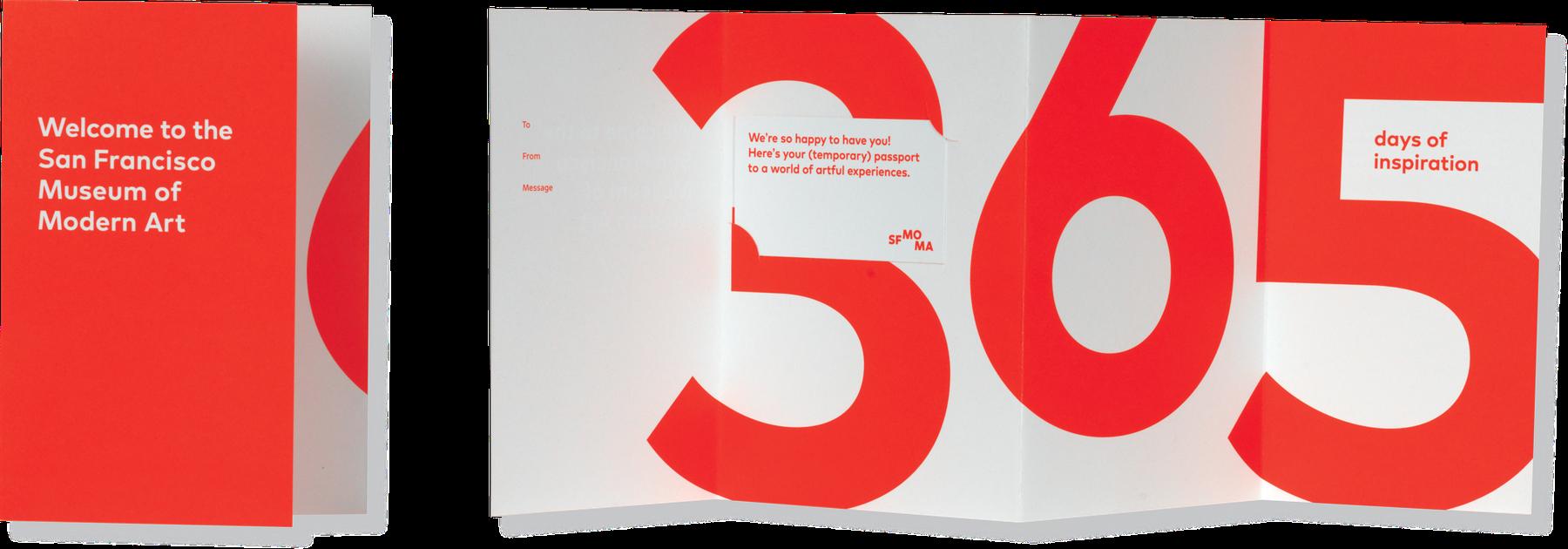 SFMOMA membership mailing materials