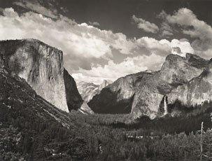 Ansel Adams, black and white photograph of Yosemite