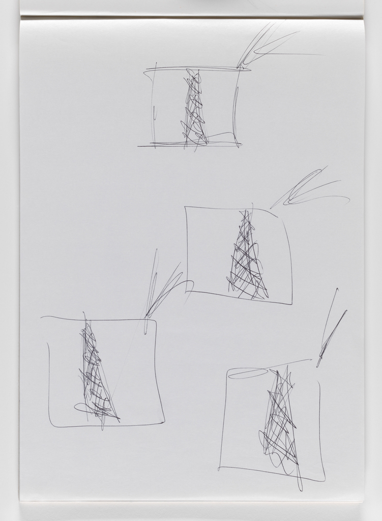Nam June Paik, Untitled, from Untitled Notebook, 1980 page 16