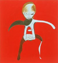 Tyson, abstract figure with red background