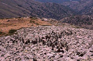 rocky and grassy hillside