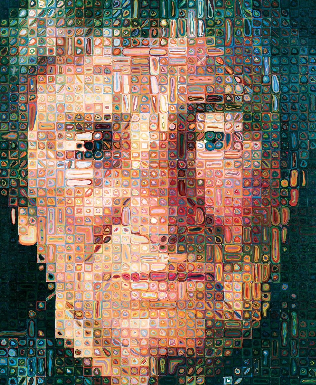 Artwork image, Chuck Close's Agnes