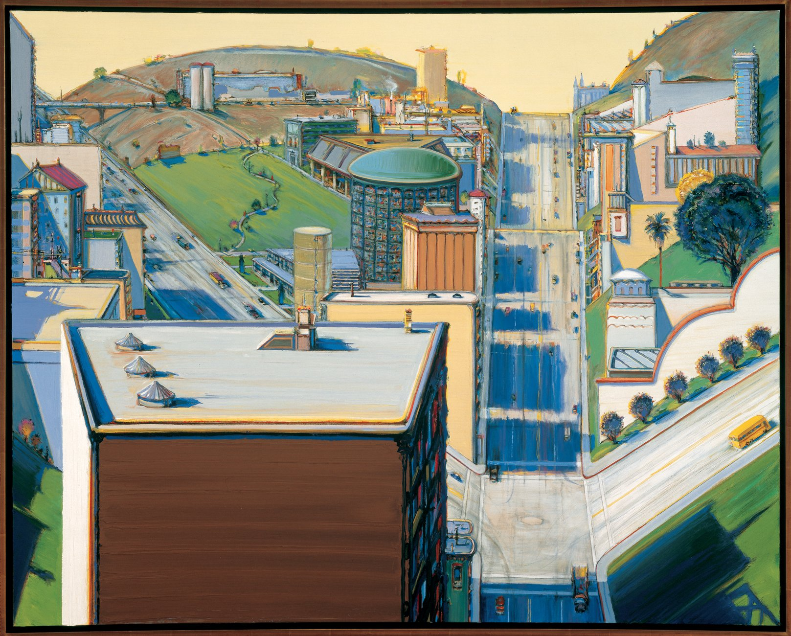 Artwork image, Wayne Thiebaud's Valley Streets