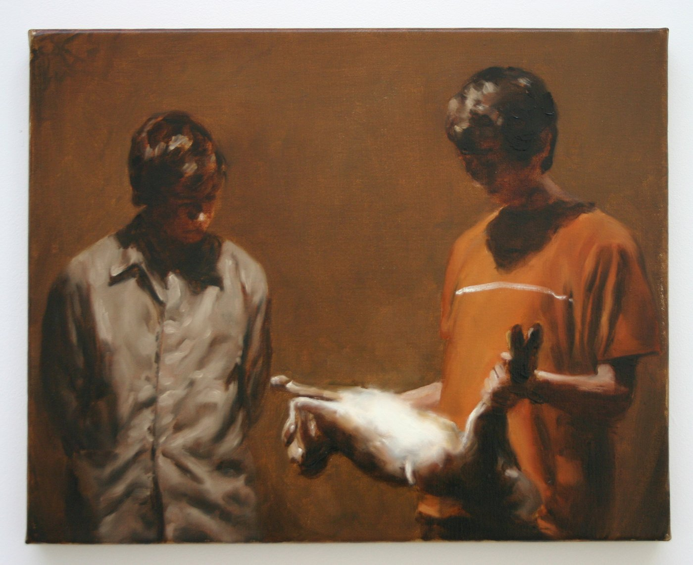 Artwork image, Michaël Borremans's The Hare