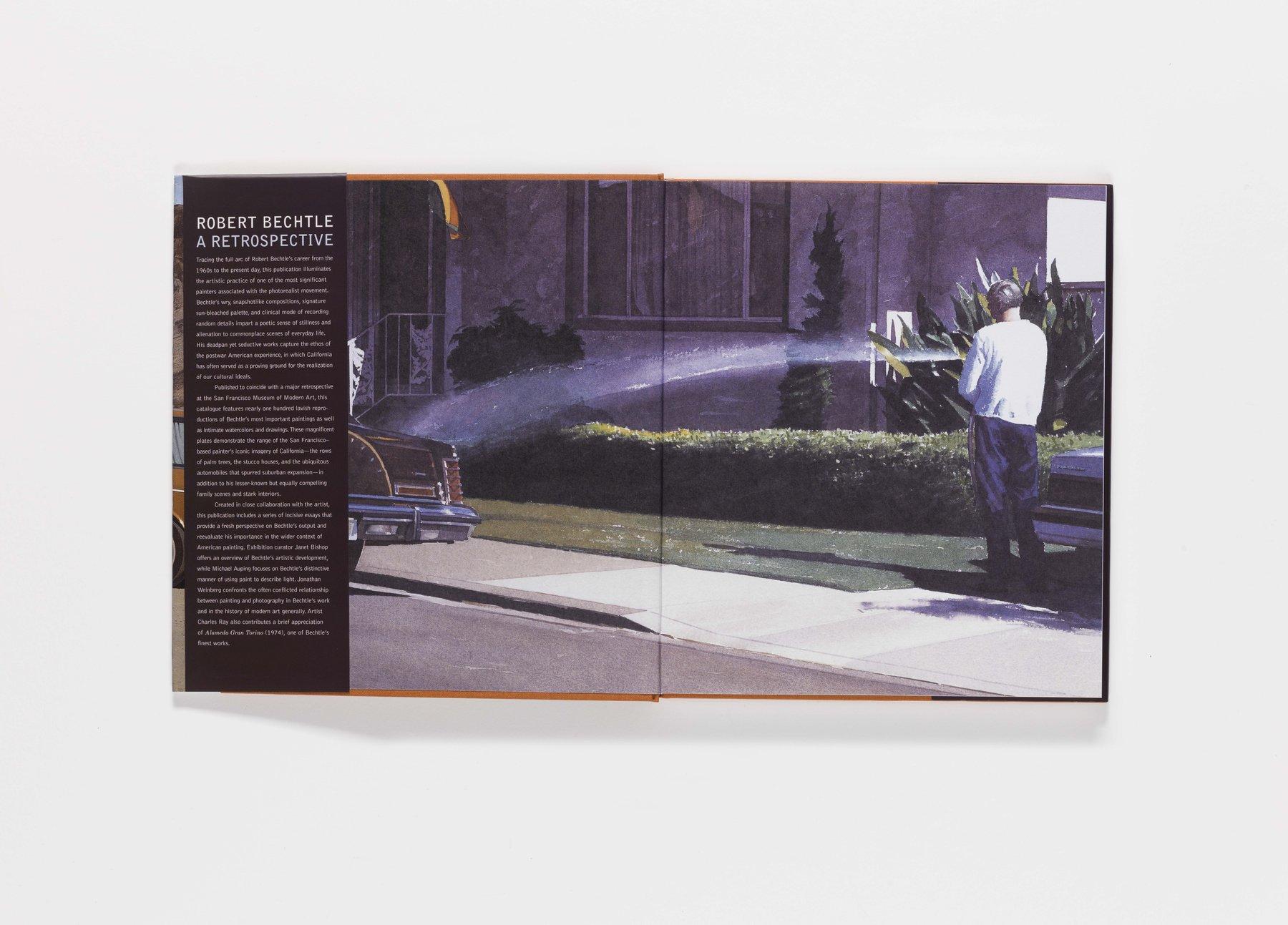 Robert Bechtle publication front endsheet