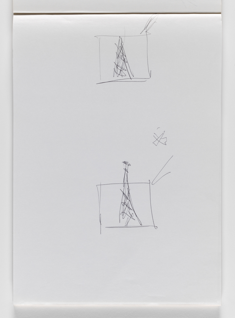 Nam June Paik, Untitled, from Untitled Notebook, 1980 page 3