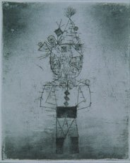 Paul Klee, etching of a clown