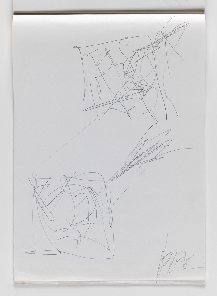 Nam June Paik, Untitled, from Untitled Notebook, 1980 page 45