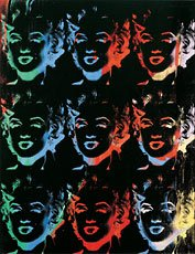 Andy Warhol, Nine Multicolored Marilyns