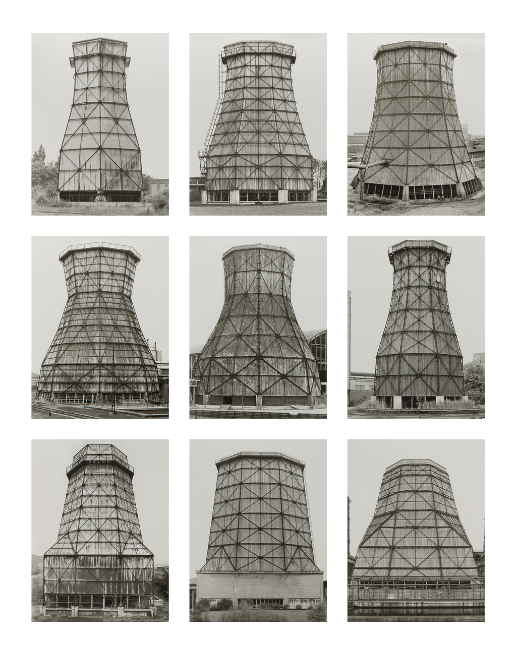 Artwork image, Bernd and Hilla Becher, Kühltürme, Deutschland (Cooling Towers, Germany)