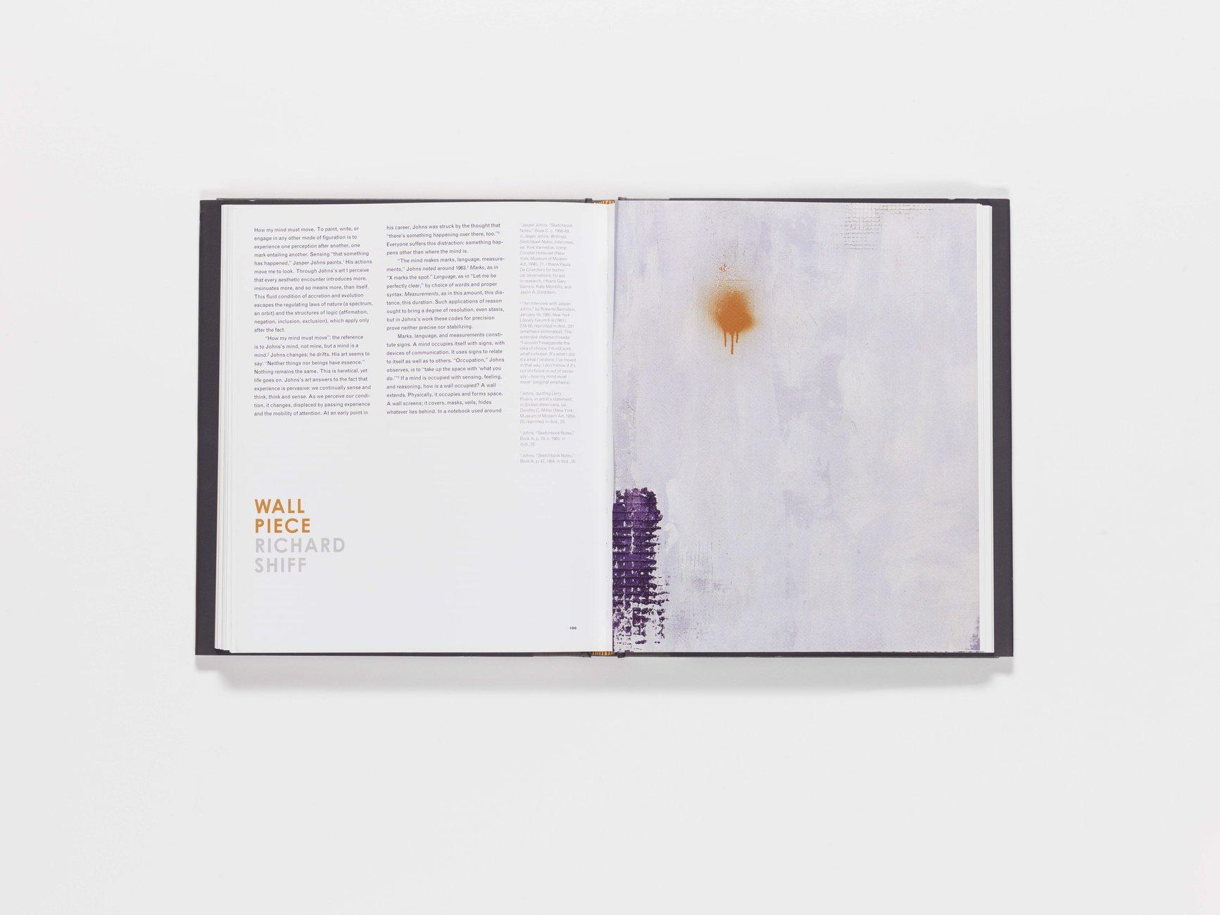 Jasper Johns publication foldout pages 106-107 (closed)