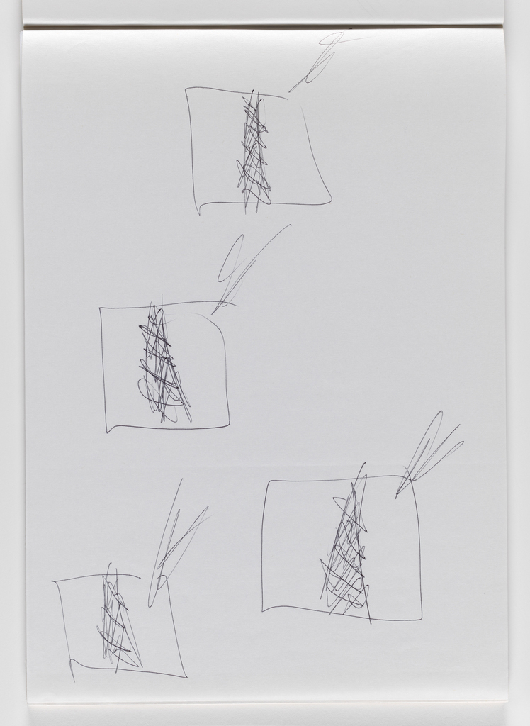 Nam June Paik, Untitled, from Untitled Notebook, 1980 page 17