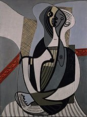 Picasso, portrait of seated woman