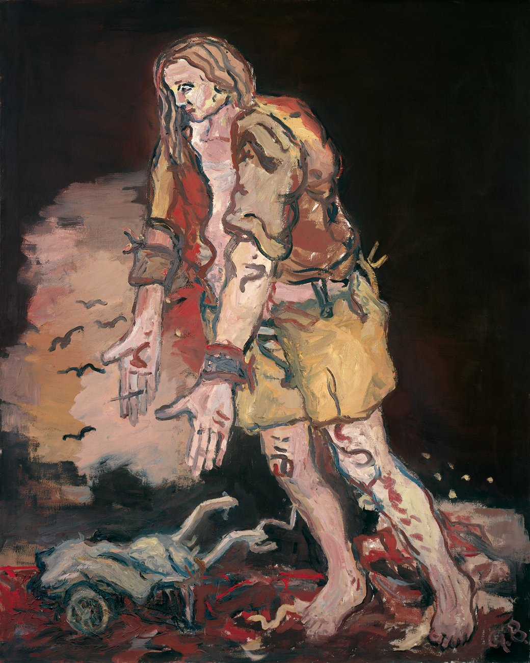 Artwork image, Georg Baselitz, Ludwig Richter auf dem Weg zur Arbeit (Ludwig Richter on His Way to Work)