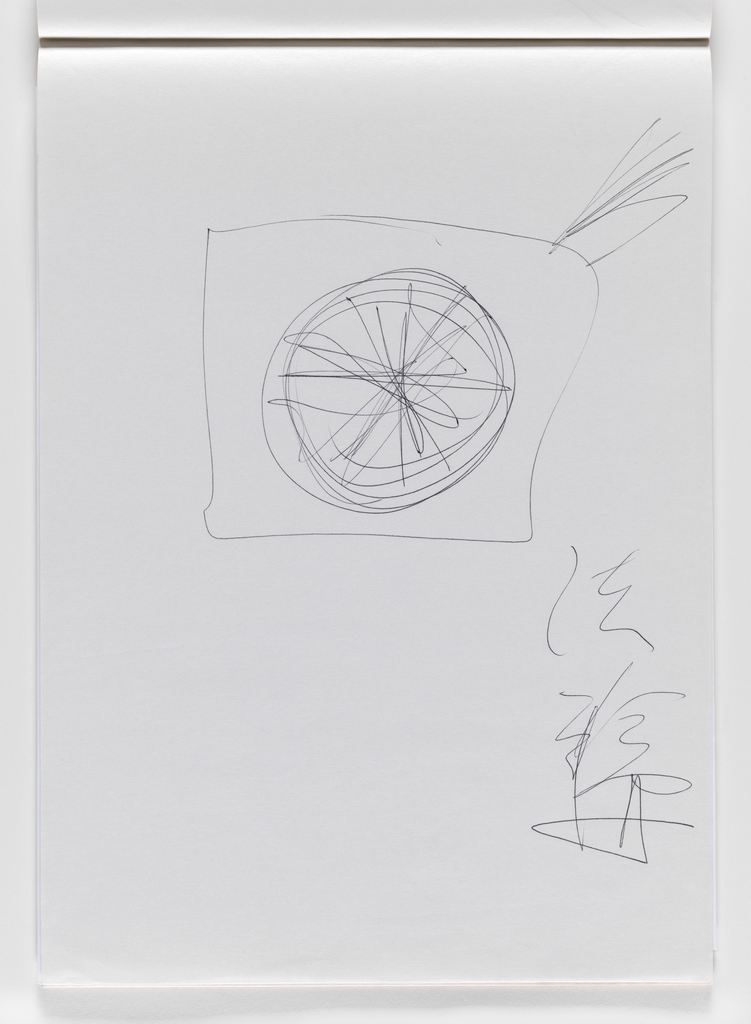 Nam June Paik, Untitled, from Untitled Notebook, 1980 page 36