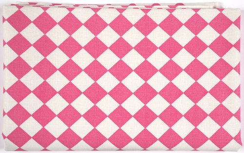 Checkerboard Tablecloth [Pink on white]