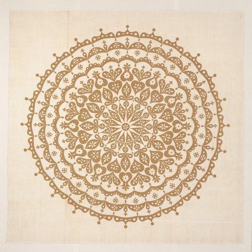 Cutout Tablecloth [Tan and natural]