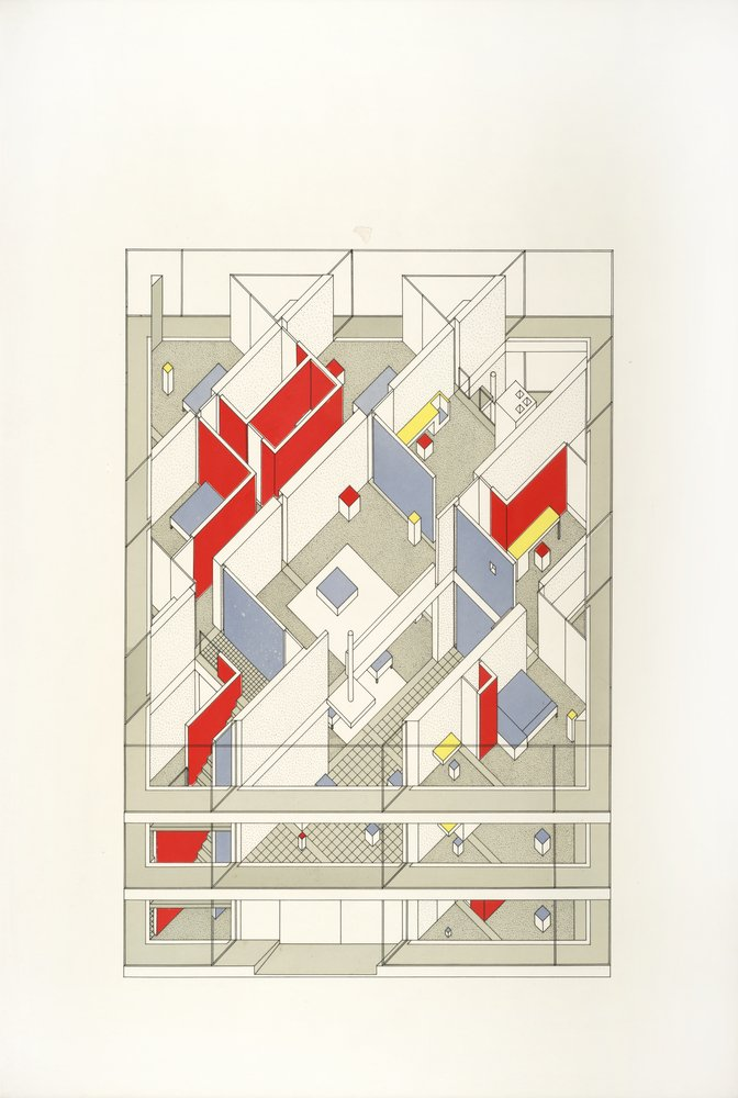 John Hejduk Diamond House B Projection 1963 1967 Sfmoma Interiors Inside Ideas Interiors design about Everything [magnanprojects.com]