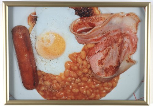 Untitled [eggs and meat plate], from the series British Food