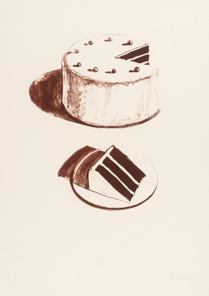 Chocolate Cake 1971 Wayne Thiebaud born 1920 Purchased 1982 http://www.tate.org.uk/art/work/P07724
